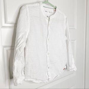 Zara baby White Linen Shirt size 3-4 years